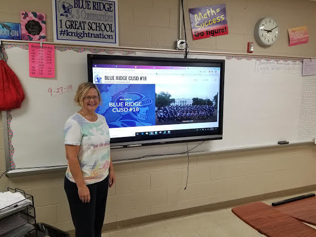 Mrs. Lagle loves her new Viewsonic system. Thank you, BREF!