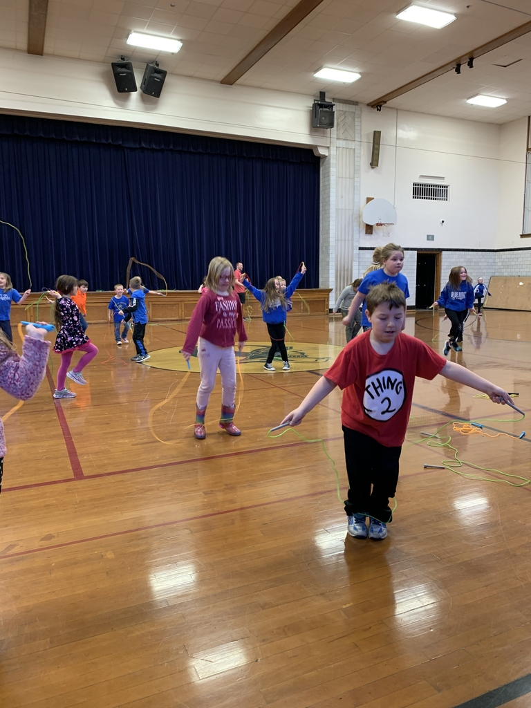 First Graders Jumping Rope