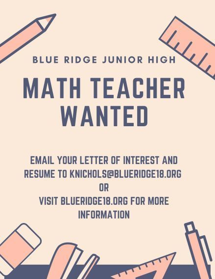 Math Teacher Wanted