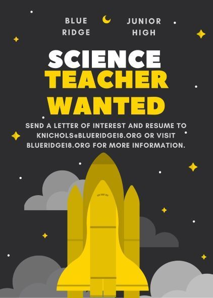 Science Teacher Wanted
